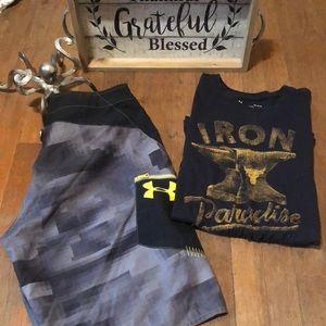 UnderArmour shorts and t-shirt set